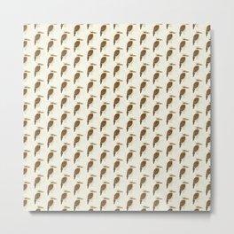 Laughing Kookaburra | Pattern Metal Print