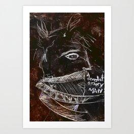 A revolutionary man.  Art Print