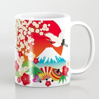 japan Mugs featuring Japan by rie_lalala