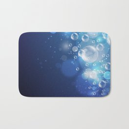 Illustraiton of underwater background with light rays Bath Mat