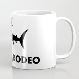 Shark Rodeo silhouette - Pop Culture Coffee Mug