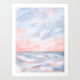 Good Morning - Pink and Orange Sunrise Seascape Art Print