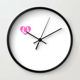 I Heart Clydesdales | Love Clydesdale Horse Breeds  Wall Clock