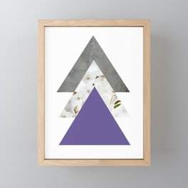 Ultra Violet Blossoms Arrows Framed Mini Art Print