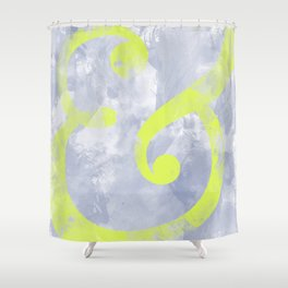 Grungy Ampersand Shower Curtain