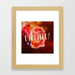 Am I Not Merciful (Illuminae) Framed Art Print