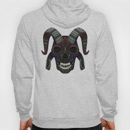 demon skull charcoal Hoody