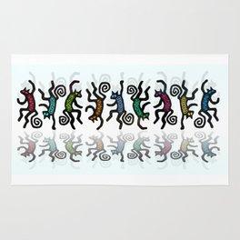 DANCING CATS LINE DANCE Rug