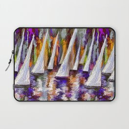 Sails To-Night Laptop Sleeve