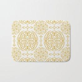 Nordic Gold #society6  #pattern Bath Mat
