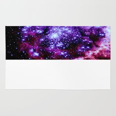 galaXy. Purple Pink Nebula Rug