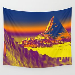 Mountain landscape colorful illustration painting Wall Tapestry