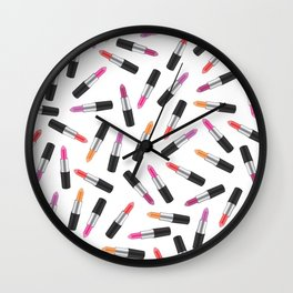 Lipstick Collage Wall Clock