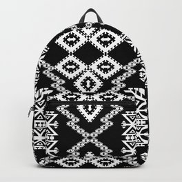 Black White Aztec 3 Backpack