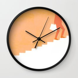 Climbing Ladders Wall Clock
