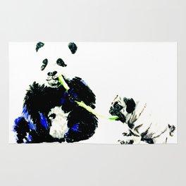 Pug and Panda Rug