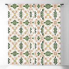 Andalusian mosaic pattern Blackout Curtain