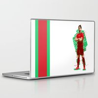 ronaldo Laptop & iPad Skins featuring Football Legends: Cristiano Ronaldo - Portugal by Akyanyme
