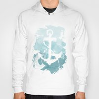nautical Hoodies featuring Nautical Watercolor by joeyj