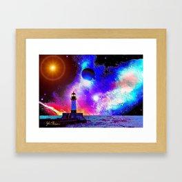 Lighthouse to the stars Framed Art Print
