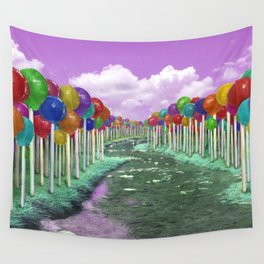 Lollipop Lane Wall Tapestry