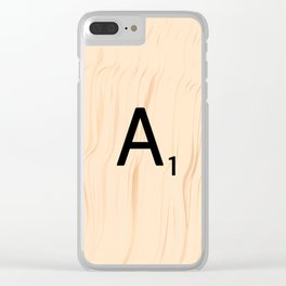 Letter A Scrabble Art Clear iPhone Case