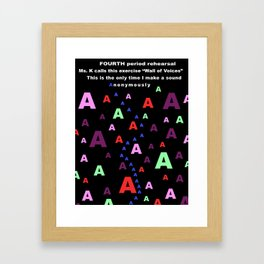 Wall of Voices Framed Art Print