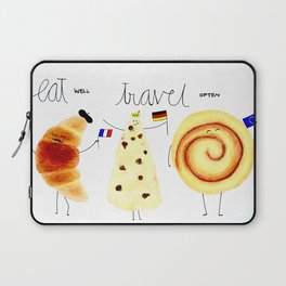eat and travel Laptop Sleeve