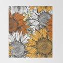 Beautiful pattern from hand drawn sunflowers by fleurdesign