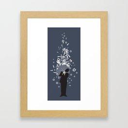 Digital Rain Framed Art Print
