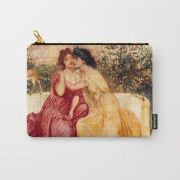"Simeon Solomon ""Sappho and Erinna in a Garden at Mytilene"" Carry-All Pouch"