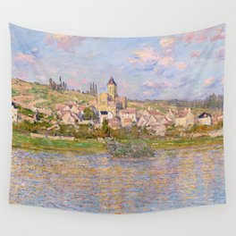 1879-Claude Monet-Vetheuil-60x81 Wall Tapestry