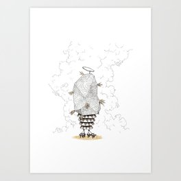 Holy creature from space Art Print