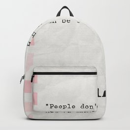 Malcolm X quote about books Backpack