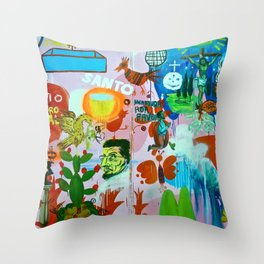 Los detectives helados Throw Pillow