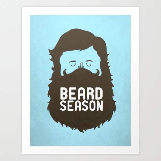 Beard Season Art Print