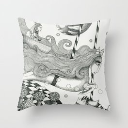 East of Blue Lake Throw Pillow