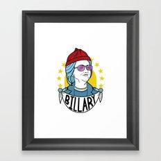 Billary Clinton 2016 Framed Art Print
