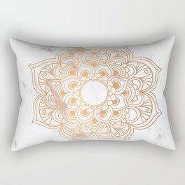 Copper flower mandala - marble Rectangular Pillow