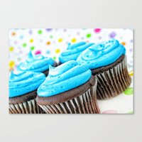 cupcakes Canvas Prints featuring Cupcakes by ThePhotoGuyDarren