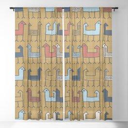 Zagros in Yellow Sheer Curtain