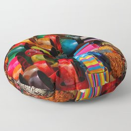 Colors of the Caribbean Floor Pillow