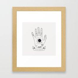 Palmistry Hand Framed Art Print