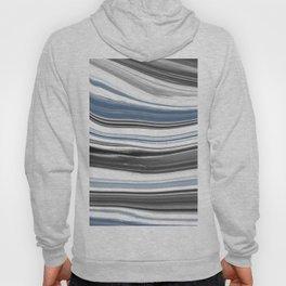 Blue black art minimalist Hoody