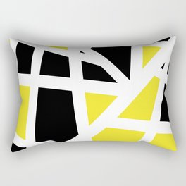 Abstract Interstate  Roadways Black & Yellow Color Rectangular Pillow