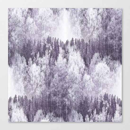 Captivating landscape - beautiful forest in winter colors Canvas Print