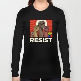 "Official ""RESIST"" Fists (Dark) Long Sleeve T-shirt"