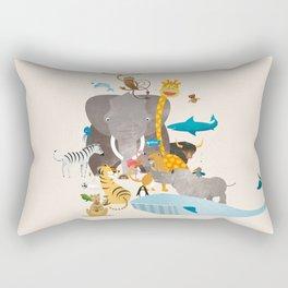 Kids Room Animals – Illustration for the sleeping room of girls and boys Rectangular Pillow