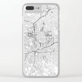 Atlanta White Map Clear iPhone Case