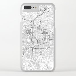 Atlanta White Map Clear iPhone Case